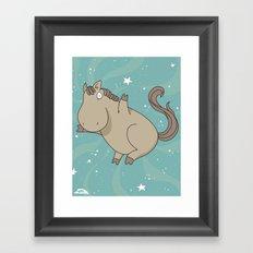 Super Horse: Yay! Framed Art Print