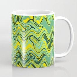 Abstract Wave yellow green Coffee Mug