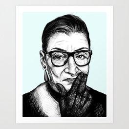 Ruth Bader Ginsberg - Notorious RBG Art Print