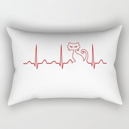 Cat Heartbeat Rectangular Pillow
