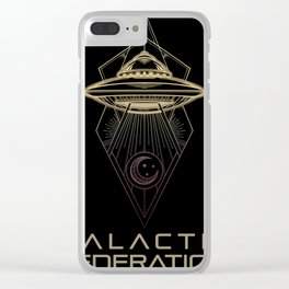 Galactic Federation of Light Clear iPhone Case