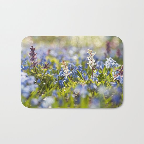 Spring flower meadow - Colorful flowers -floral on #Society6 Bath Mat