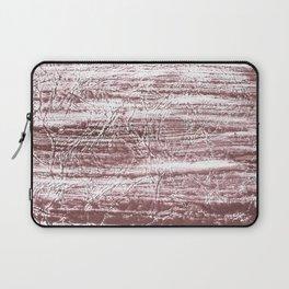 Brown marble watercolor design Laptop Sleeve