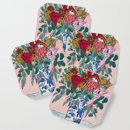 Australian Native Bouquet of Flowers after Matisse Coaster