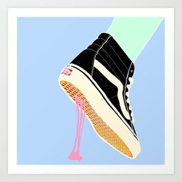 BUBBLE GUM NEVER DIES Art Print