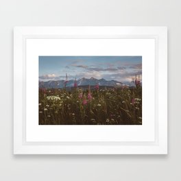 Mountain vibes - Landscape and Nature Photography Framed Art Print