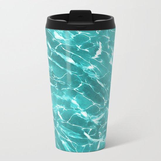 Abstract Water Design Metal Travel Mug