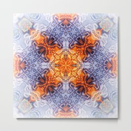 Abstract Kaleidoscope Metal Print