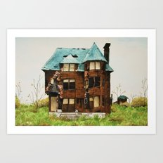 Abandoned House in Detroit Art Print