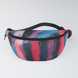 Abstract Painted Stripe Fanny Pack