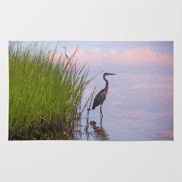 Blue Heron In Assateague Rug
