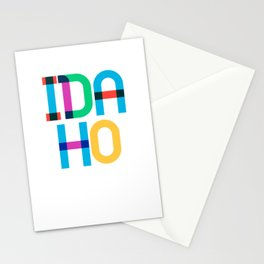Idaho State Mid Century, Pop Art Mondrian Stationery Cards