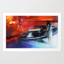 Across the Grooves: Giulia Art Print