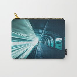 Railroad Tunnel Blue Carry-All Pouch