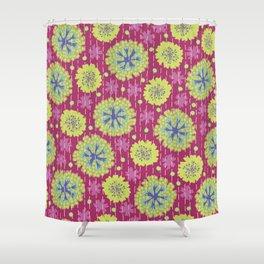 Kantha floral 6 Shower Curtain