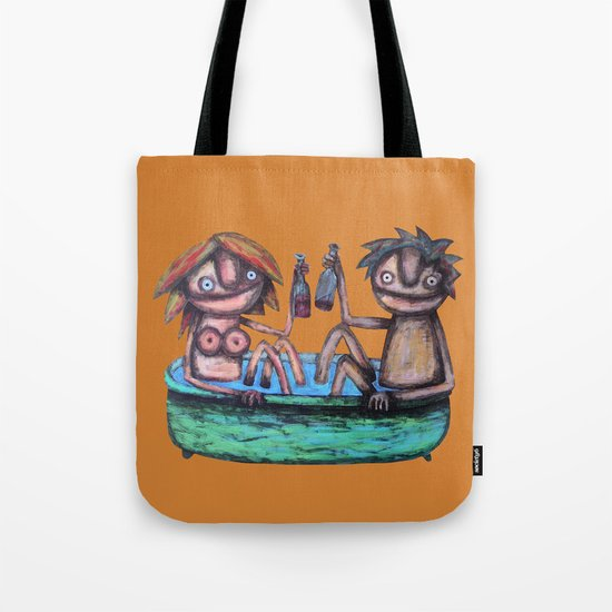 In the bath Tote Bag
