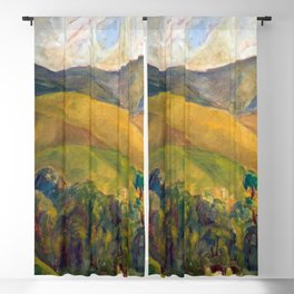 Diego Rivera - Pyrenees Mountains Catalonia, Spain landscape painting Blackout Curtain