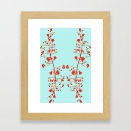 2941-Illawarra-Flame-Tree#1-Aqua Framed Art Print