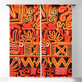 Beautiful blanket with a typical Peruvian design Blackout Curtain