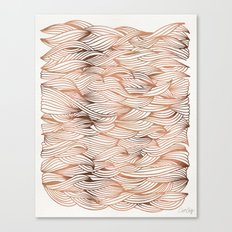 Rose Gold Waves Canvas Print