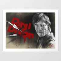 daryl dixon Art Prints featuring Daryl Dixon by TheJustArts