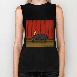 Ducky Pianist | Veronica Nagorny Biker Tank
