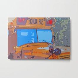 School Bus Art Metal Print