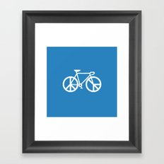no war ride bike Framed Art Print