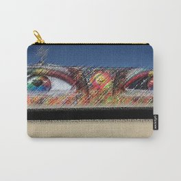 "Black Rock City Festival Graffiti ""Eyes"" Sculpture Painting by Jeanpaul Ferro Carry-All Pouch"