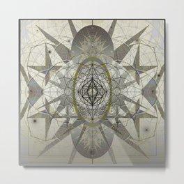Star Fire Ancient Sacred Geometry Mandala Print Metal Print