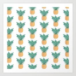 Retro Pineaple Art Print