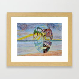 Looking Through the Mask Framed Art Print