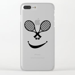 Awesome Tennis gift for happy tennis players | Tennis makes me happy Clear iPhone Case