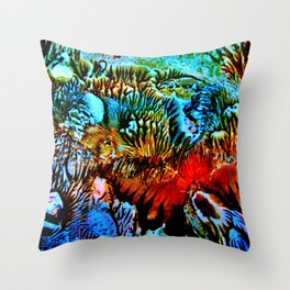 Colorful Underwater Plants Throw Pillow