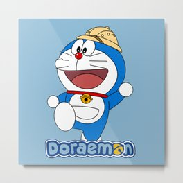 Doraemon - Worker Metal Print