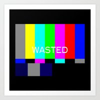 wasted rita Art Prints featuring Wasted by Λdd1x7