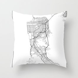 Minimal City Maps - Map Of San Francisco, California, United States Throw Pillow