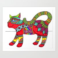 Cat Zen 11 Art Print