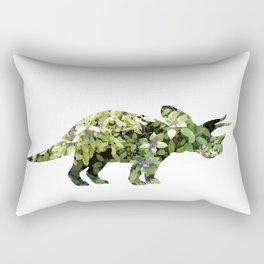 Triceratops Salvia Rectangular Pillow