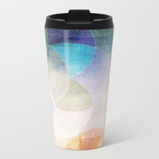 Gamma - Contemporary Geometric Circles Metal Travel Mug