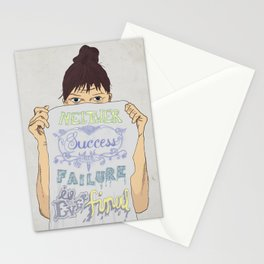 Positive about Ambiguity Stationery Cards