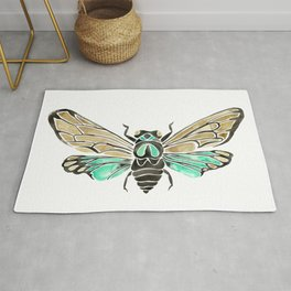 Summer Cicada – Mint & Tan Palette Rug