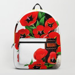 Poppy on my Guitar Backpack