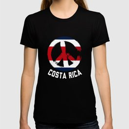 Costa Rica Peace Sign Shirt T-shirt