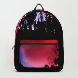 Intense mountain. Backpack