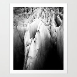 Black and white Monolith of Ice – Arctic Landscape Photography Art Print