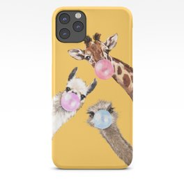 Bubble Gum Gang in Yellow iPhone Case