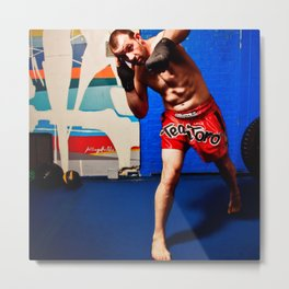 Fight : Punch Metal Print