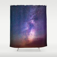 milky way Shower Curtains featuring Milky Way by Lotus Effects