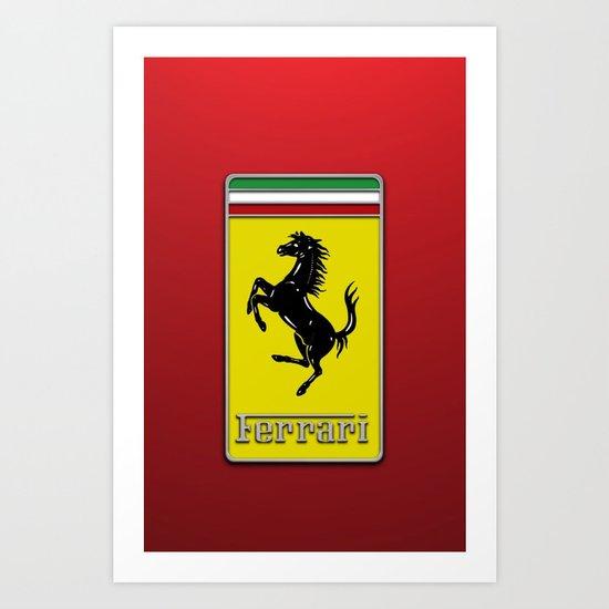 FERRARI LOGO for Iphone Art Print